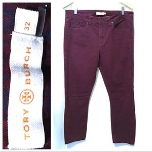 Exc. Condition ~ Tory Burch Skinny Ankle Jeans